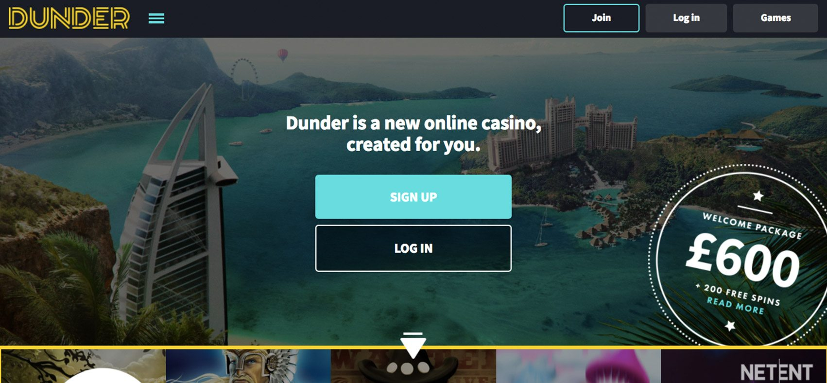 Dunder Casino Covershot